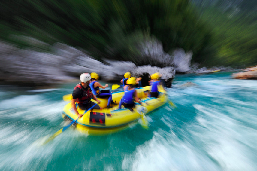 Action-packed rafting and canyoning in the emerald Soča river